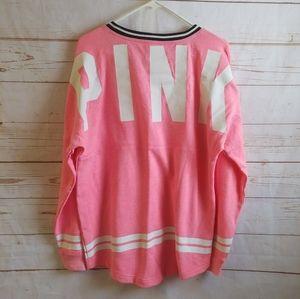 Victoria's Secret Pink VS Crewneck Logo Pullover